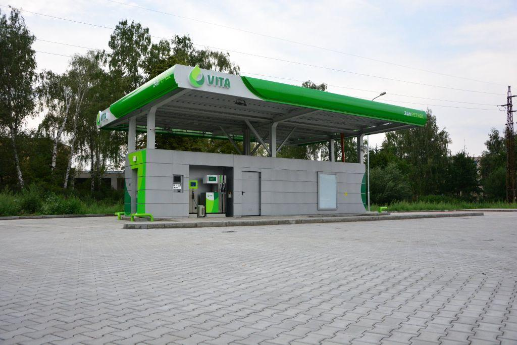 Petrol Station In Pardubice With Krampitz Tank Container