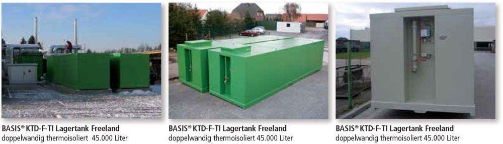 KTD-F-TI Lagertank doppelwandig Freeland thermoisoliert Anwendungen