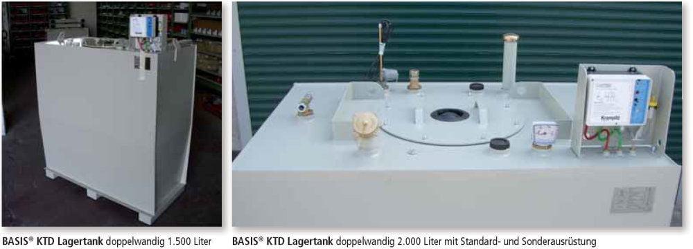 KTD Lagertank doppelwandig Anwendungen