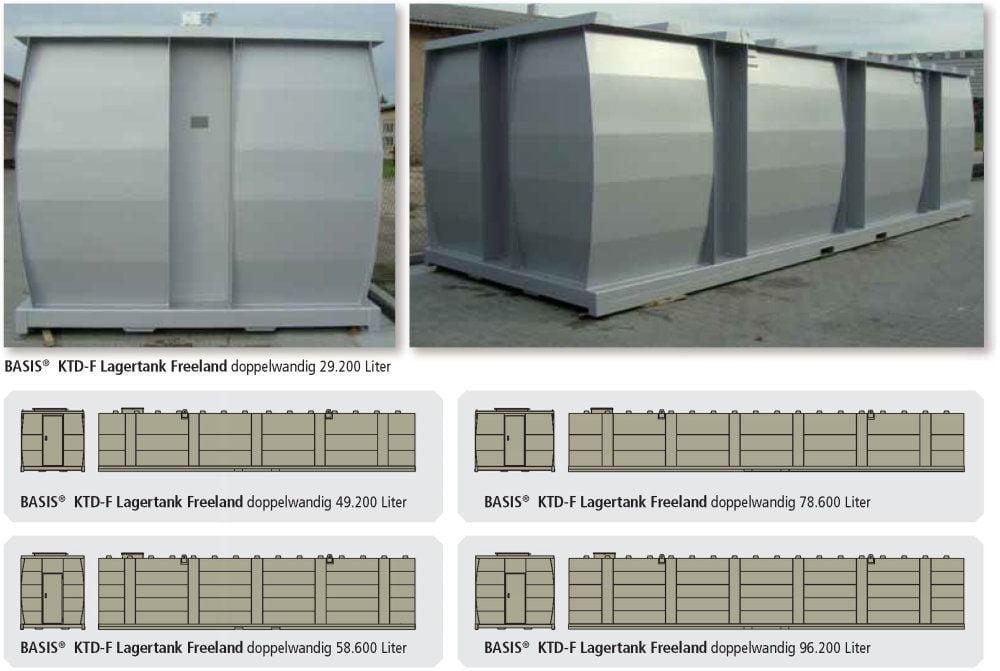 KTE-F Lagertank einwandig Freeland Anwendungen