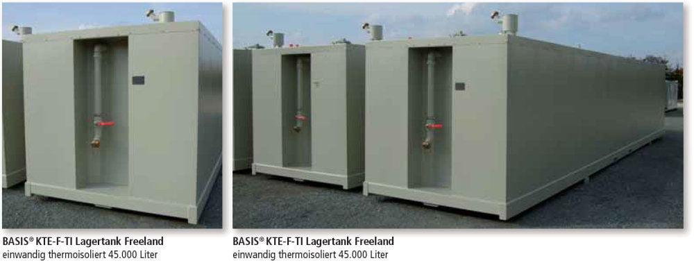 KTE-F-TI Lagertank einwandig Freeland thermoisoliert Anwendungen