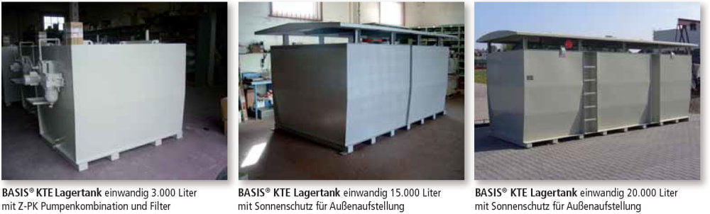 KTE Lagertank einwandig Anwendungen