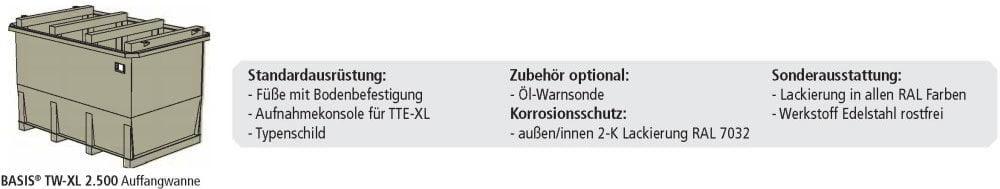 TTE-XL Tagestank Tank-Auffangwanne