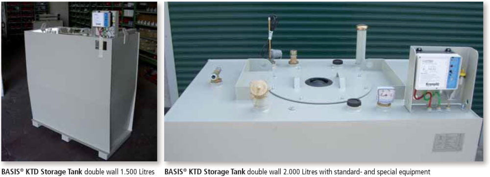 KTD Storage Tank Double Wall - Applications
