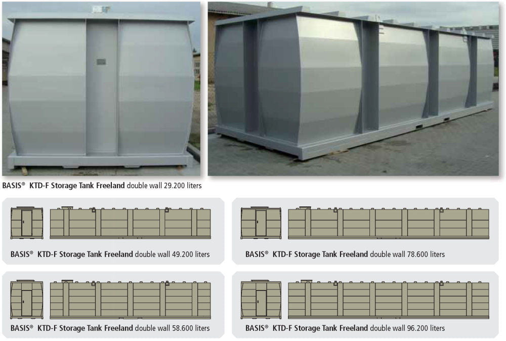 KTE-F Storage Tank Single Wall - Freeland Applications