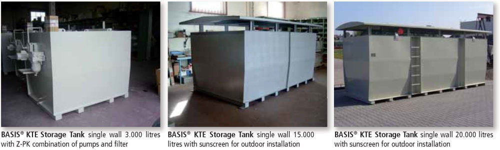 KTE Storage Tank Single Wall - Applications