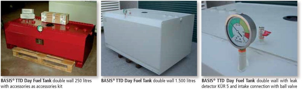 TTD Day Fuel Tank Double Wall - Applications