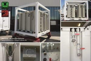 Transportflat-IBC-Tanks