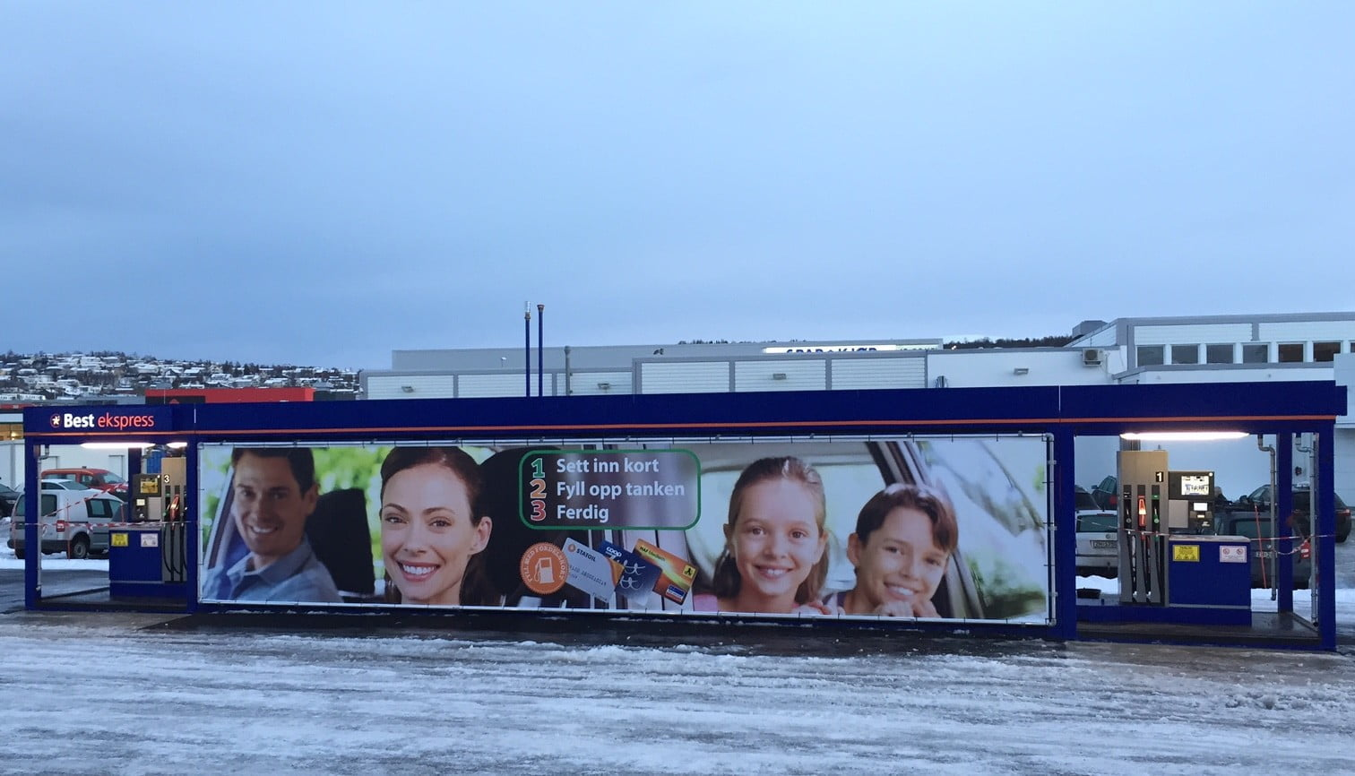 Krampitz gas station container in Tromso city (1)