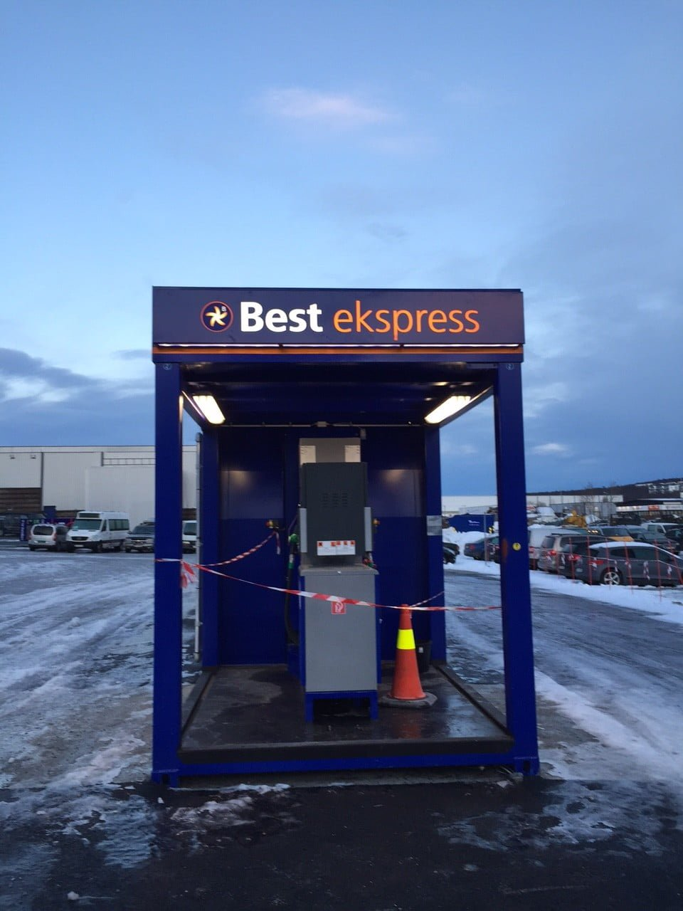 Krampitz gas station container in Tromso city (2)