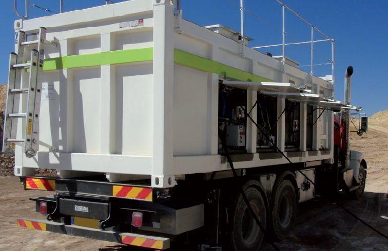 Diesel-, Öl-, Schmiermittel-, Wasserversorgung: mobile Servicestation