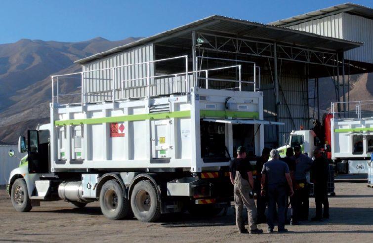 Lube skids & Fuel Skids: Mobilservice für Bergbaumaschinen