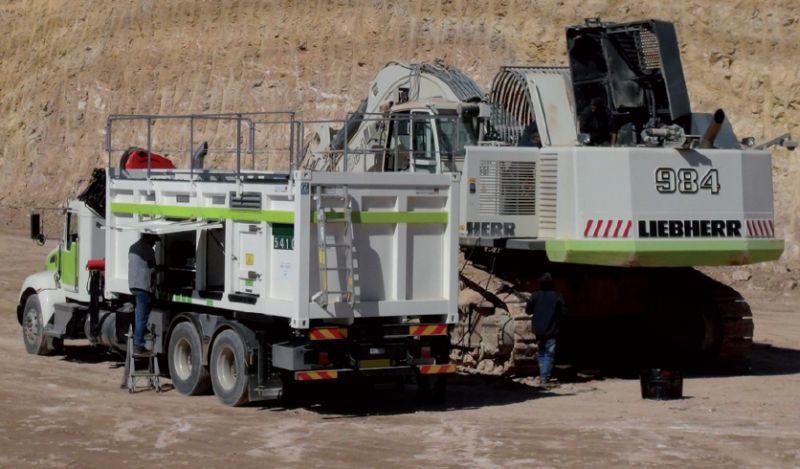 Lube skids & Fuel Skids: Service truck
