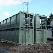 Grosstankanlage Containerbauweise stapelbar