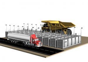 Tank farm battery