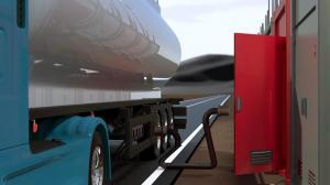 gas station cluster filling admin storage tank