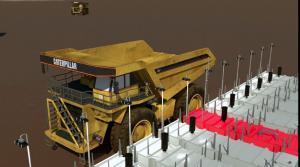 11 gas station cluster refueling mining dumper truck
