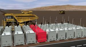 gas station cluster refueling dumper trucks