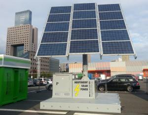 gas station container with office solar tracker