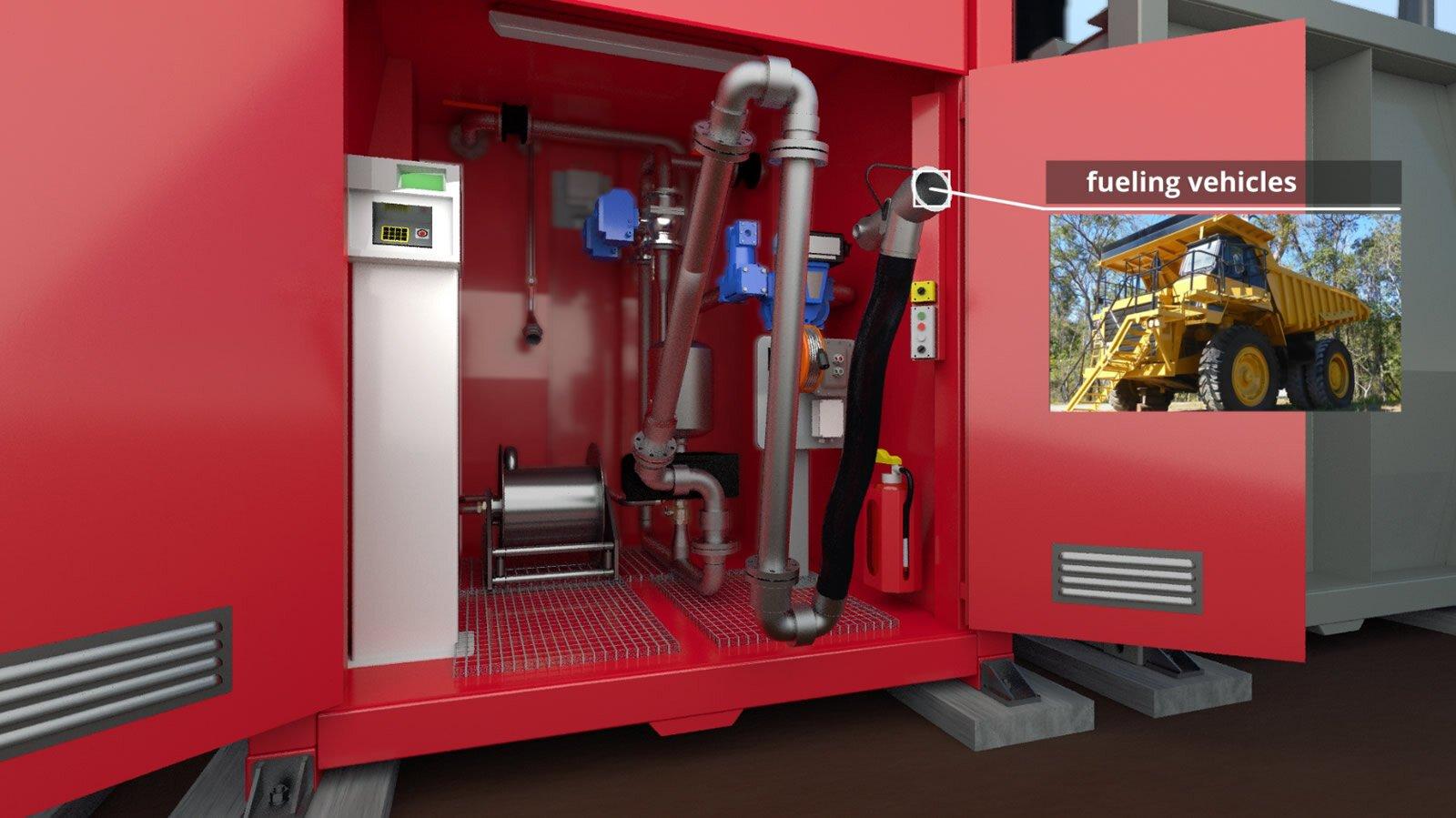 fuel tank farm