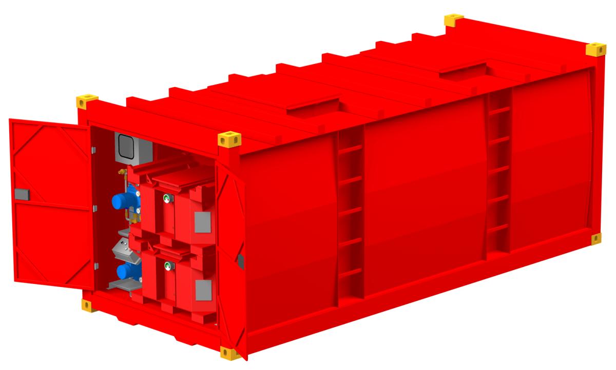 Ölversorgungsanlage Maximal im 20ft Container