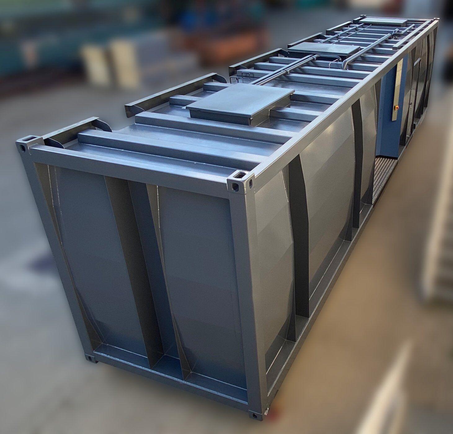 3-Kammer Tankcontainer Plattform von Krampitz