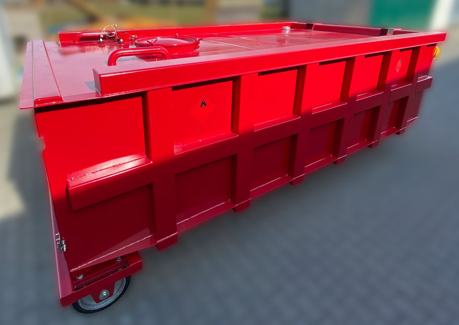mining tank container with hook system
