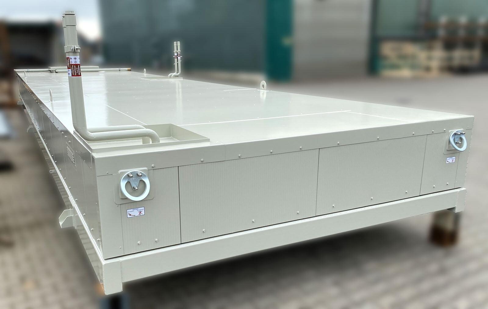 flacher Tankcontainer mit Thermoisolierung zum Aufbau von Maschinencontainern (3)
