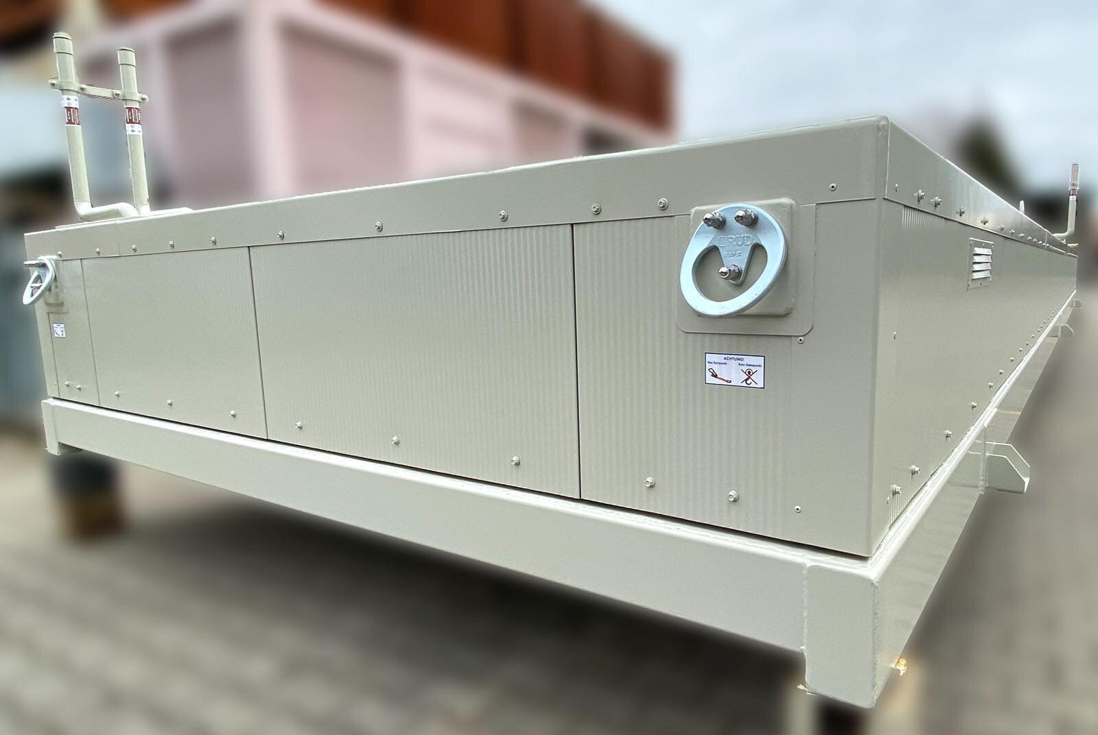 flacher Tankcontainer mit Thermoisolierung zum Aufbau von Maschinencontainern (5)
