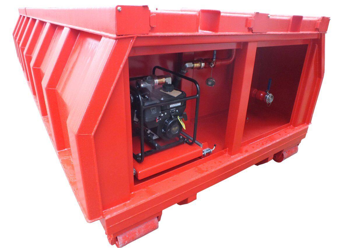 Transport- und Abrollcontainer aus Edelstahl für Schaummittel