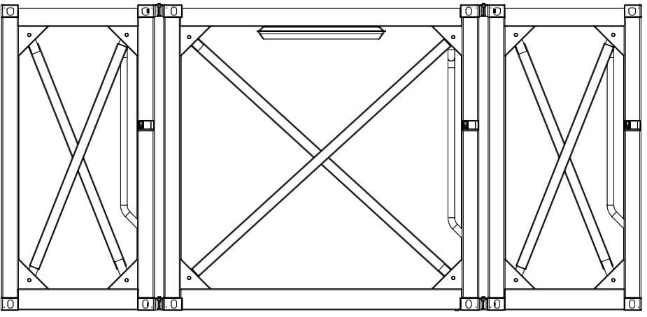 Krampitz Containervariante 1x 5ft + 1x 10ft + 1x 5ft = 1x 20ft