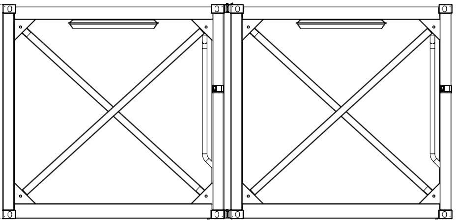Krampitz Containervariante 2x 10ft HC = 1x 20ft HC
