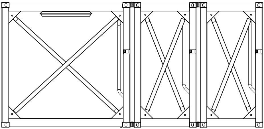 Krampitz Containervariante 2x 5ft + 1x 10f = 1x 20ft