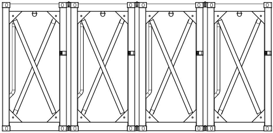 Krampitz Containervariante 4x 5ft = 1x 20ft